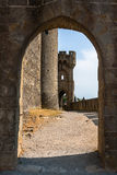 Walls of castle Carcassone, France. Royalty Free Stock Photos