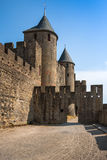 Walls of castle Carcassone, France. Stock Image