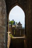 Walls of castle Carcassone, France. Stock Images