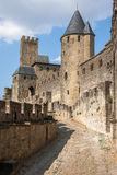 Walls of castle Carcassone, France. Royalty Free Stock Images