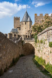 Walls of castle Carcassone, France. Stock Photography