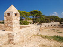Walls of castle Fortezza Stock Photography