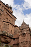 The walls of castle Haut-Koenigsbourg in Alsace, France Royalty Free Stock Photo