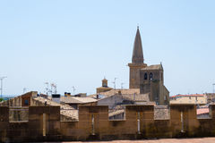 From the walls of the Castle of Olite Stock Photography