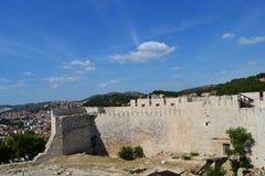 Walls of the castle of Sibenik, Croatia Stock Photography