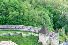 The walls of the castle. Trencin Castle in Slovakia suitable as abstract background Stock Image