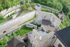 The walls of the castle. Trencin Castle in Slovakia suitable as abstract background Royalty Free Stock Image