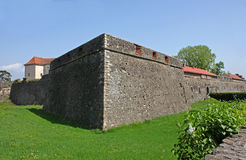 Walls of castle Stock Images