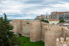 Walls and Cathedral of Avila, Spain Stock Photo