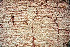 Grafitti, paint, pink hues on old antique Venetian walls Stock Image