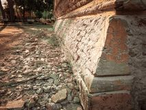 Walls of cement need restoration. In Thailand Stock Photo