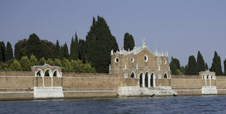 Walls of cemetery San Michele, Venice Stock Photos
