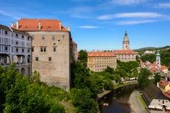 Walls of the Cesky Krumlov Castle, Czech Republic royalty free stock image