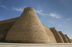 The walls of the Citadel in Bukhara Royalty Free Stock Photo