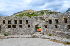 The walls of the Citadel in Old Bar, Montenegro Stock Photo
