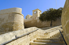 The walls of Cittadella in Gozo - Malta Stock Photography