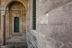 Walls and columns of Suleymaniye Mosque in Istanbul Royalty Free Stock Photos