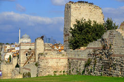 The Walls of Constantinople Stock Photo