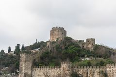 Walls of Constantinople, Istanbul, Turkey. The Walls of Constantinople are a series of defensive stone walls that have surrounded and protected the city of stock photos