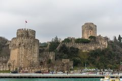 Walls of Constantinople, Istanbul, Turkey. The Walls of Constantinople are a series of defensive stone walls that have surrounded and protected the city of stock images