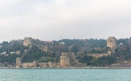 Walls of Constantinople, Istanbul, Turkey. The Walls of Constantinople are a series of defensive stone walls that have surrounded and protected the city of royalty free stock images