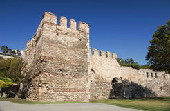 Walls of Constantinople or The Theodosian walls in Istanbul, Turkey. SONY DSC, Walls of Constantinople or The Theodosian walls in Istanbul, Turkey Royalty Free Stock Image
