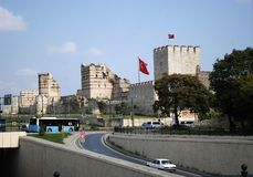 Walls of Constantinople Stock Photo