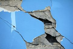 Walls of cracks Royalty Free Stock Photography