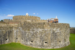 Walls of Deal castle Stock Photo