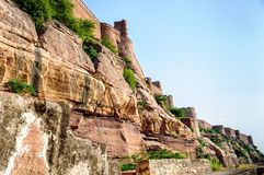 Walls and Different parts of Mehrangarh Fort, Rajasthan Royalty Free Stock Photo