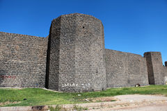 The walls of Diyarbakir. Stock Photos