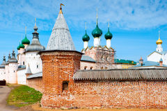 Walls and dome of famous Rostov Kremlin in Russia Royalty Free Stock Image