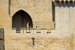 Walls and door in Olite Royalty Free Stock Photography