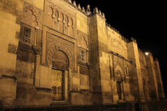 Walls and doors of the mosque in Cordoba Royalty Free Stock Images