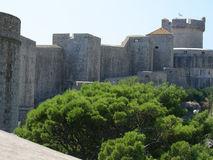 Walls of Dubrovnik. Tower and walls of Dubrovnik Royalty Free Stock Image