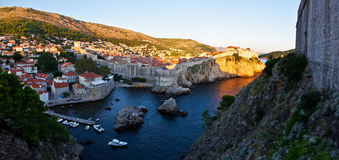 Walls of Dubrovnik city Royalty Free Stock Photography