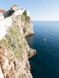 The walls of Dubrovnik, Croatia in the evening Stock Photos