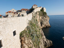 The walls of Dubrovnik, Croatia in the evening Royalty Free Stock Photography