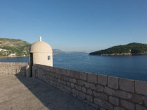 The walls of Dubrovnik, Croatia in the evening Royalty Free Stock Photo