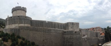 Walls of Dubrovnik panorama Royalty Free Stock Photo