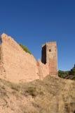 Walls and el Jaque tower, Daroca, Zaragoza province, Aragon, Spa. In Stock Photo