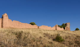 Walls and el Jaque tower, Daroca,. Zaragoza province, Aragon, Spain Stock Photography