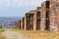 Walls of Erebuni Fortress. Armenia. Yerevan royalty free stock photos