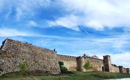 Walls  of Estremoz castle Royalty Free Stock Photo