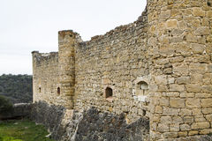 Walls. Exterior walls of stone castle Royalty Free Stock Photography