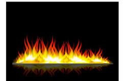 Walls of fire in mirror reflection. Illustration Walls of fire in mirror reflection Royalty Free Stock Photo