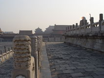 Walls of the Forbidden. In Beijing, China, Tiananmen Square / Beihai Park, Forbidden City royalty free stock photography