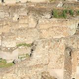 Walls on Foro Traiano. Ancient archaeological locality in Rome, Italy Stock Photography