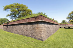 Walls of Fort Jay - Governors Island Royalty Free Stock Images
