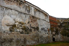 Walls of the fortified medieval church in Ghimbav (Weidenbach), Transylvania Royalty Free Stock Photo
